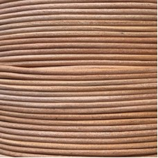 2mm Premium Indian Round Leather Cord - Natural Undyed
