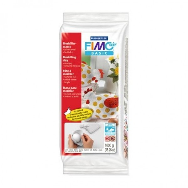 fimo air basic air dry clay 1kg white air dry clays over the
