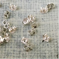 4.3x5.1mm Sterling Silver Earring Clutches