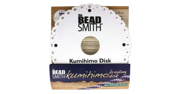 Beadsmith 6in Round Kumihimo Disk with instructions | Kumihimo Disks ...
