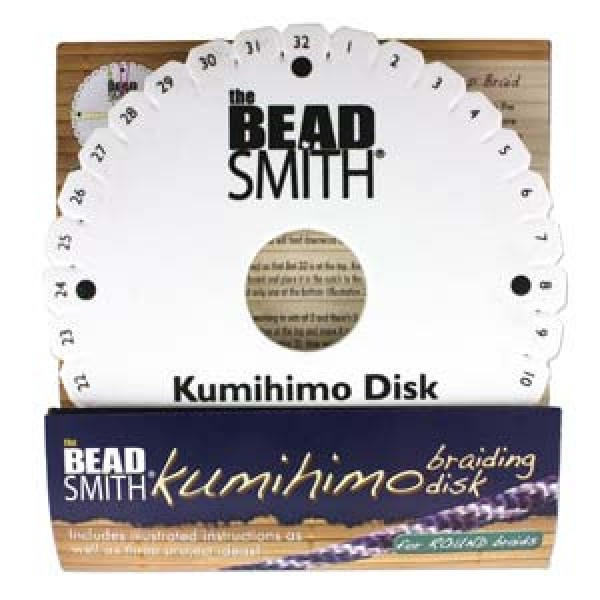 Beadsmith 6in Round Kumihimo Disk with instructions   Kumihimo Disks ...