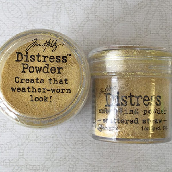 tim holtz distress embossing powder scattered straw mica