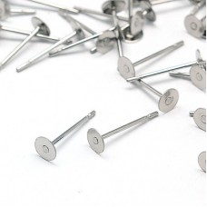 4mm Flat Pad 304 Stainless Steel Earposts