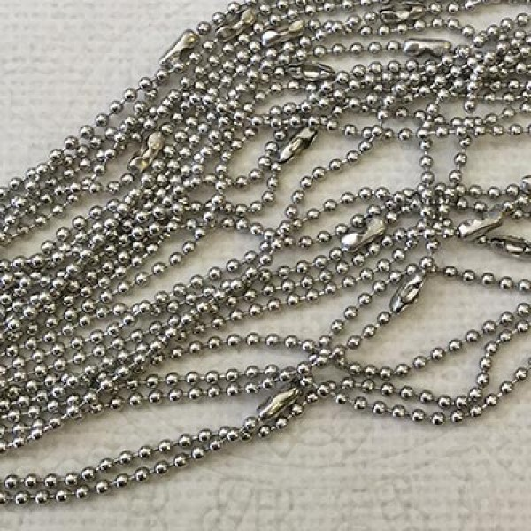 27in (70cm) 1.5mm Stainless Steel Ball Chain Necklaces  bbd3f2672