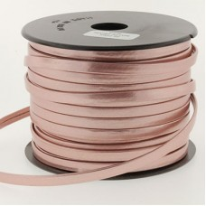 5x2mm Flat European Leather Cord - Matte Pearl Pink