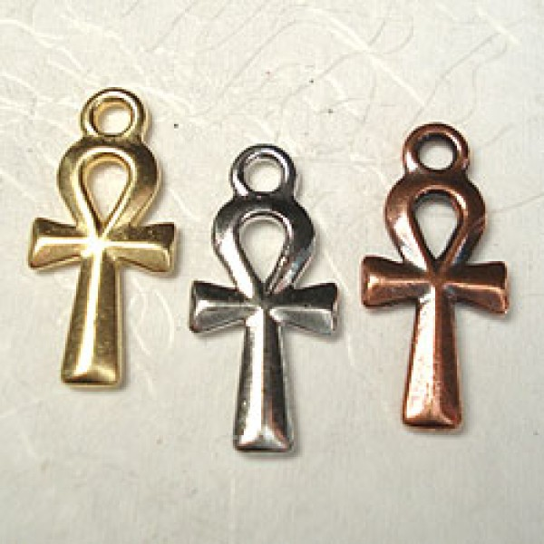 22x10mm Ankh Drop Precious Metal Plated Symbols Goddesses