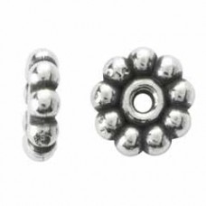 5.75x1.8mm Sterling Silver Daisy Spacer Beads