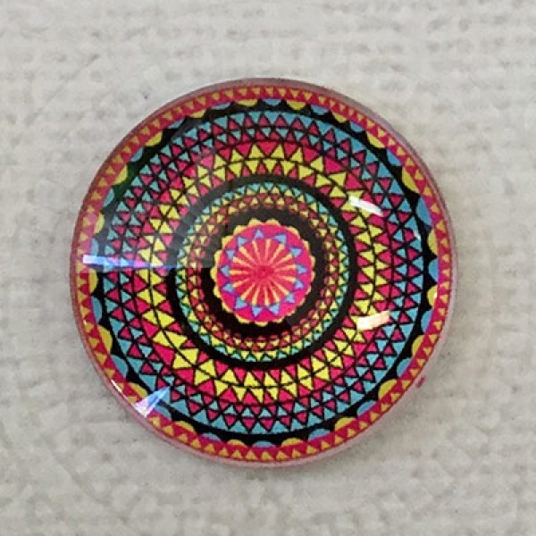 Fab 60s Artwork: 25mm Art Glass Backed Cabochons - Fab 60s Designs 7