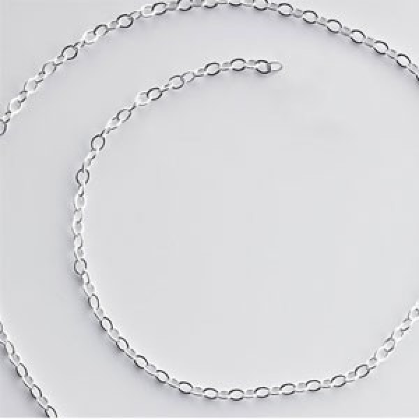 Sterling Silver .5mm Flat Cable Chain