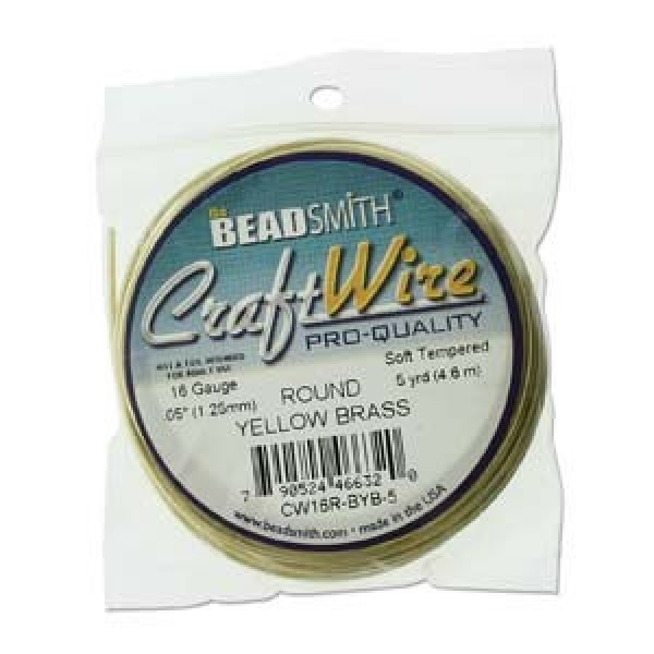 16ga beadsmith pro quality wire bare yellow brass On beadsmith craft wire 16 gauge
