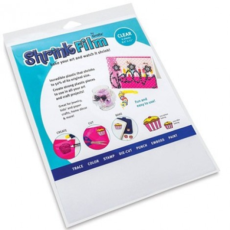 Grafix Shrink Plastic Clear 50 Sheets Shrink Plastic