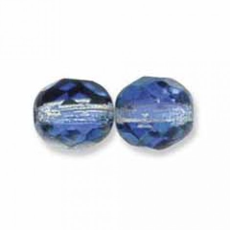 15 10mm Topaz Faceted Czech Glass Fire Polished Beads