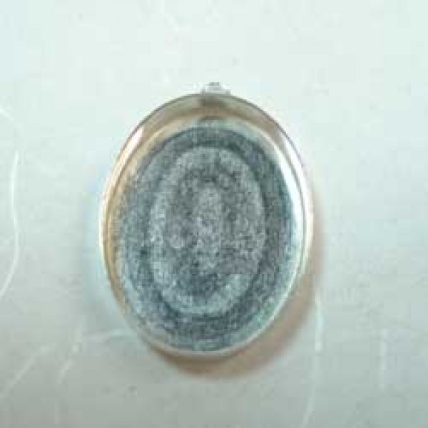 20x15mm Oval Sterling Silver Bezel Cup with Loop | Sterling + Gold ...