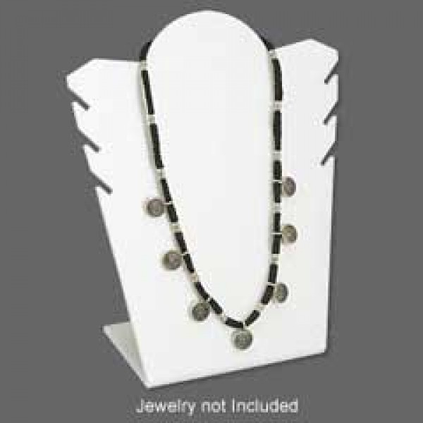 40x40cm Acrylic Necklace Display Stand White Jewellery Display Amazing Jewellry Display Stands