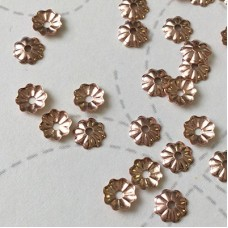 4mm 14K Rose Gold Filled Tiny Flower Beadcap with 1mm hole