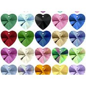 Swarovski 10mm Heart Drops