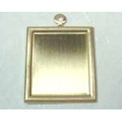 Raw & Ant Brass Bezels